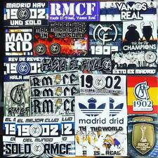 100 x Real Madrid Stickers Based on Ultras Poster Badge Scarf Flag RMCF Bernebau