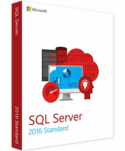 Microsoft SQL Server 2016 Standard Edition - Full 24 Core License,Unlimited CALs