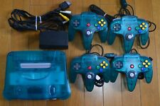3 Colors Nintendo 64 N64 Console System Clear Blue / Red Gold w 4 Controllers