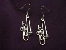Trombone  Earrings Ideal Present for Musician Free P&P :)