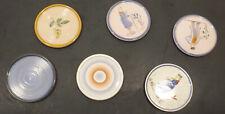 6x alte Wächtersbach Keramik Untersetzer Dm. 8,5cm -Dec.F639,4134,4080,6398,8098