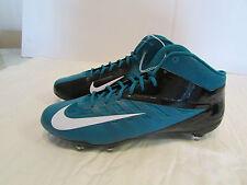 Nike Men VaporPro 3/4 Mid Eagles Football Cleats Sz 14 Midnight Green 544761 415