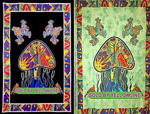 2 piece Mushroom Tapestry Bohomen Indian Wall Hanging Wholesale (77cmX102cm)BG-5