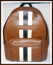 Coach Backpack Large Varsity Charles SADDLE Men's Calf Leather NWT NEW RECEIPT