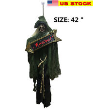 """42"""" Hanging Witch Halloween Decoration with Sign Halloween Prop"""