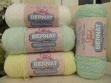 New Bernat Baby Coordinates Yarn 1) WHITE 1) LEMON C. 1) ICED MINT 1) AQUA/LEMON