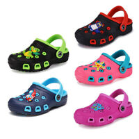Unisex Children Cute Shoes Cartoon Slides Sandals Clogs Girls Boys Beach Slipper
