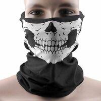 caliente MOTO Cuello Skull Face Mask Bandana Diadema Casco de la motocicleta
