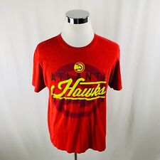 Atlanta Hawks NBA Basketball Red Short Sleeve T-Shirt Men's Large L