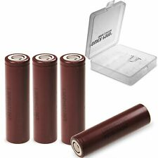 "4x LG INR 18650HG2 3000mAh 20A 3,6 - 3,7 V inkl. Akkubox ""POWER-POND"""