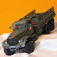 1:25 Kraz-255B Military Truck DIY 3D Paper Card Model Construction A8A