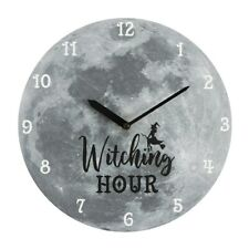 Witching Hour Moon Wall Clock, Witch Wiccan Pagan Gothic Magic Spirit of Equinox