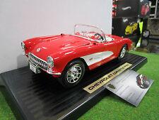 CHEVROLET CORVETTE Cabriolet 1957 rouge au 1/18 de YATMING ROAD SIGNATURE 92018