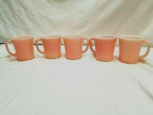 5 Vintage  Fire King Pink  D   Handle Mug Cup