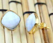 Zj-2615 Exclusive Sale Classy Howlite Gold Plated Stud Earring For Girls Jewelry