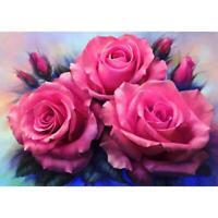 5D DIY Full Drill Diamond Painting Flower Cross Stitch Embroidery Mosaic R1BO