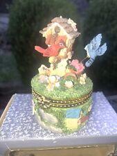 Classic Treasures Decorative Trinket Box Birdhouse With Box Cardinal Blue Jay