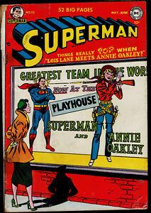 1951 DC Superman #70 GD-