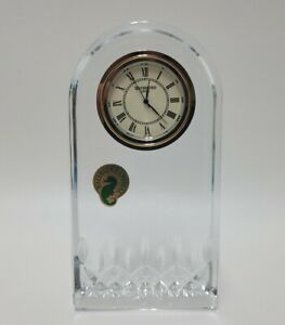 Waterford Crystal Lismore Essence Desk Collection Clock