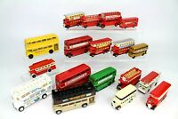~~VINTAGE BUSES DOUBLE DECKER DIECAST TOYS CORGI DAYS GONE LLEDO MATCHBOX BUNDLE