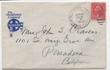 1932 US Cover from the California Limited Santa Fe Railroad