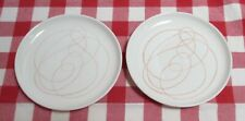 Vintage Russel Wright Steubenville B&B Plates, 2, Abstract Scribble