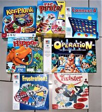 7 BOARD GAMES ~ HUNGRY HIPPOS+KERPLUNK+TWISTER+FRUSTRATION+OPERATION+CONNECT 4
