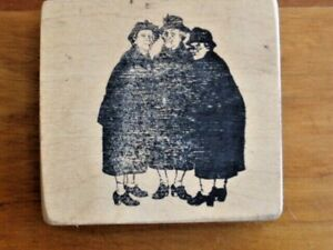 OLD NOSY CHURCH LADIES Rubber Stamp - Funny Gossipy People
