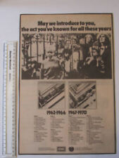 THE BEATLES 1962-1988 1967-1970 EMI PRESS ADVERT BLACK AND WHITE 38 X 25 CM