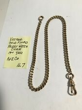 "Vintage Gold Filled Pocket Watch Chain 14"" 4mm 16.7gr"