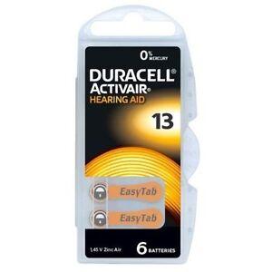 Duracell Activair Mercury Free Hearing Aid Batteries Size 13 ORANGE 60 batteries