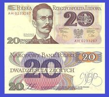 Poland P149a, 20 Zlotych, General Romuald Traugutt / arms, 1982, UNC