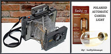Upcycled Retro Wire Mesh Polaroid Automatic Land Camera Re-purposed Table Lamp