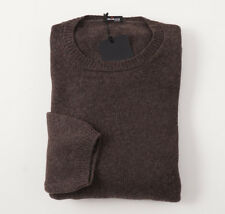 NWT $2395 KITON Solid Brown Regal Cashmere Sweater XXL (Eu 56) Crewneck