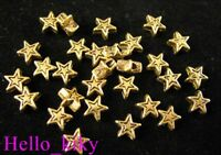 300pcs Antiqued gold plt star spacer beads A306