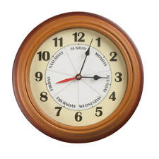 Day Of The Week Clock, Wall Clocks, Plastic, Easy Hanging - Free Shipping