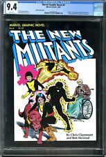 Marvel Graphic Novel #4 New Mutants (1982, Marvel) Canadian CPV CGC 9.4 NM White