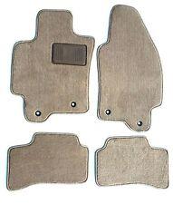 Jaguar X-Type 4pc Beige Replacement Floor Mats Heel Pad -Serge Edge 2004.5-2009