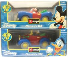 Disney BURAGO Italie 1/18 Mickey, il 113 + De donald 313 Mickey et Donald DUCK