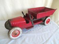 Old Tin 1920's-30's STRUCTO DUMP TRUCK *Vintage Pressed Steel Toy *17 Inches