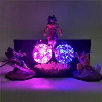 Dragon Ball Z Goku Vegeta VS Broly Led Light Lamp Action Figure Table Desk Decor