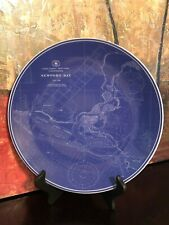 Williams Sonoma Chart Newport Bay BLUE LARGE PLATTER SERVING PLATE Nautical 12""