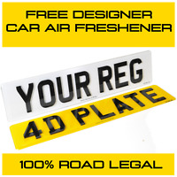 Front & Rear 3D/4D Acrylic Road Legal Car Van Registration UK Number Plates