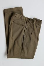 NWOT Bills Khakis Men's M1P 32x33 Green Pleated Cuffed Chinos Style# 2939 USA