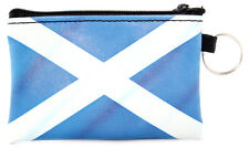 Scottish Blue Saltire Flag Travel Keyring Small Card Coin Zipped Purse