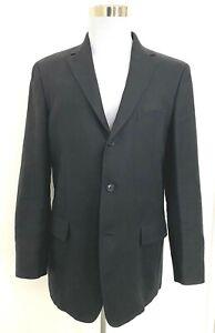 Boggi Milano linen blend jacket, black, 54 XL