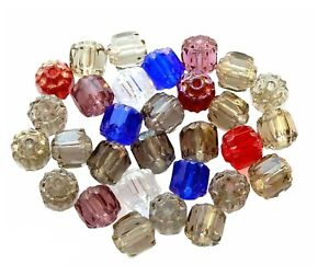 cLeaRancE SaLe 50 Assorted Smoke Mix 6mm Fire Polished Cathedral Glass Beads