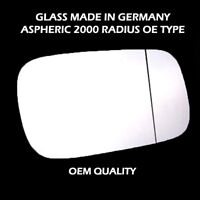 Saab 9~5 Wing Mirror Glass - Silver,Aspheric,RH(Driver Side), 1997 to 2002