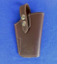 """Barsony Leather  Beaverton, Or. OWB Pistol Holster 5"""" T At Front 4"""" Across Top"""