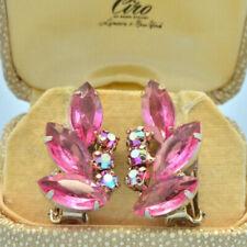 Crystal Earring Vintage Costume Jewellery (1950s)